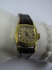 Vintage Damen Armbanduhr / Uhr Glashütte / GUB 70s Handaufzug Goldplaque