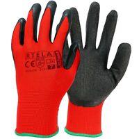 Arbeitshandschuhe 12 Paar Schutzhandschuhe Handschuhe Latex Rot Gr. 7 - 11 NEU