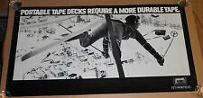 Maxell Portable Tape Decks It's Worth It Poster Original Promo 44x24 Skier
