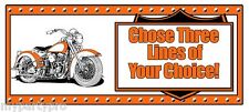 MOTORCYCLE HAWG CUSTOM BANNER PARTY supplies FREE SHIPPING NEW