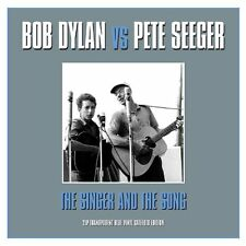 Bob Dylan Vs. Pete Seeger - The Singer and The Song (Blue Vinyl 2LP) NEW/SEALED