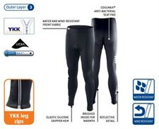 Mens Black Winter Cycling Trousers Wind & Water Resistant Cycle Pants S M L XL