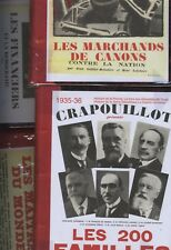 RARE Le CRAPOUILLOT, 1931-37: 5 RELIURES N° Spéciaux Beaux recueils Polémiques