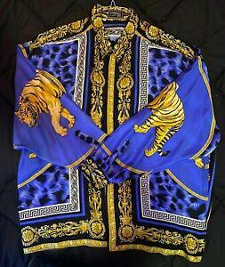 Men's Vintage Versace Barocco V2 Tiger Silk Shirt- Men's (Ultra Rare)
