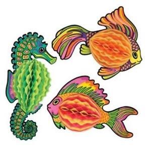 Tissue Fish Mermaid Luau Marine Life Party Birthday Decoration
