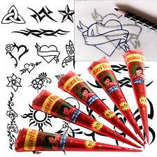 5 x tube Henna* Tattoo Kit Freepost* ideal art school project Mehndi Eid tt