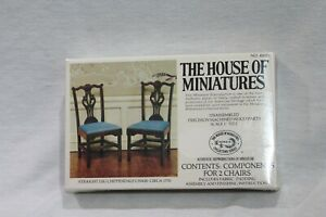 NEW  The House of Miniatures Straight Leg Chippendale Chair 40028