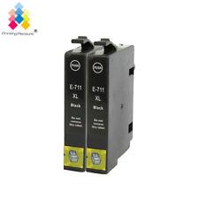 2 Black Ink Cartridges PP® for Epson dx5050 d5000 dx8450 dx4400 dx7400 SX215