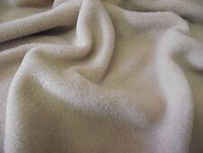 QUALITY Anti Pil Polar Fleece Fabric Material - BEIGE BROWN