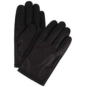 MSRP $70 Calvin Klein Men's Leather Gloves Granite Size Medium