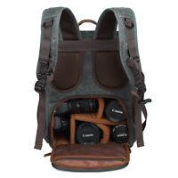 Coress New Waterproof Outdoor Canvas LARGE DSLR SLR Camera Backpack Rucksack Bag