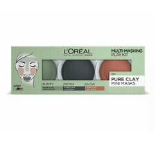 L'Oreal Pure Clay Multi-Masking Detox Face Mask Play Kit - 3 x 10 ml - Brand New
