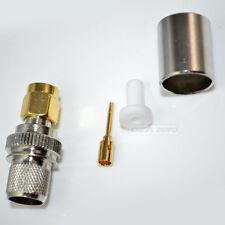 RP-SMA male crimp RG8 RG165 RG213 LMR400 connector