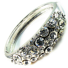 Fashion BRACELET alloy Rhinestone Crystal Adjustable Bangle cuff SILVER wedding