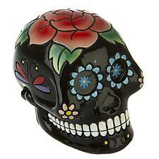 Totenkopf Skull schwarz mit Rose Vintage Steam Punk DOD296