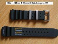 Kautschukband für Citizen erhältlich in 20/22/24mm mit Metallschlaufen