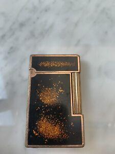 S.T. Dupont Paris Feuerzeug Chinalack Goldstaub (Linie 2) DEFEKT
