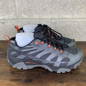 Merrell Mens Moab Edge 2 Gray Black Vibram Outdoor Hiking Shoes US 9.5 J06113