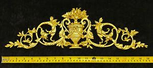 DECORATIVE RESIN MOULDING LOUIS XVI ANTIQUE APPLIQUE GILT WHITE WALL DECORATION