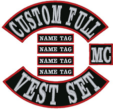 "17"" Custom Embroidered Full Vest Set Patches"