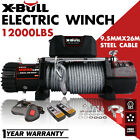 X-BULL Electric Winch 12V 12000LBS Steel Cable Truck Trailer Towing Off Road 4WD