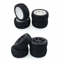 4PCS RC Car Rubber Tyres Wheel for HPI Traxxas HSP Hobbyking LRP 1/10 Buggy
