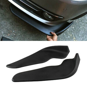 2PCS Car Vehicle Bumper Spoiler Front Shovel Decorative Scratch Resistant Wing