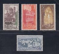 ESPAÑA (1963) MNH - NUEVO SIN FIJASELLOS - EDIFIL 1494/97 MONASTERIO POBLET