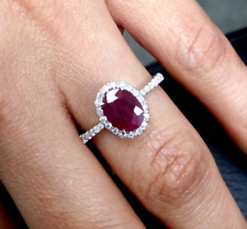Deal! 1.65 CTW Genuine Natural Ruby & Diamond Laides Band Ring 14K Gold