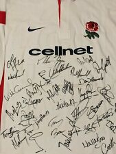 LOOK! ENGLAND MATCH WORN SIGNED  RUGBY SHIRT/JERSEY/MAILLOT/PORTE- SUPERB!!