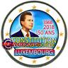 2 Euro Commémorative Luxembourg 2018 en Couleur Type B - Constitution