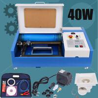 40W CO2 USB 220V Laser Engraving/Graveur Laser machine 300x200mm avec 4 roue