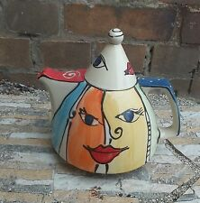 """Kanne Saft Wasser Tee Teekanne """"trapez""""   in Gesicht teapot"""