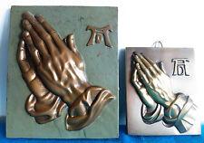 """Zwei Metall Legierung Reliefs Wandbilder Albrecht Dürer """" Betende Hände """""""