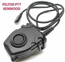 Airsoft tomtac Peltor PTT black 2 way commutateur radio sordins comtac kenwood 2 broches