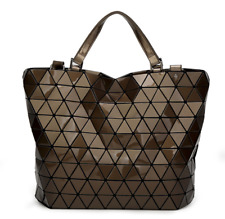 adc4b1b6a19c NEW STYLE High Quality BAO BAO Issey Miyake Metallic BRONZE TOTE Bag NEW