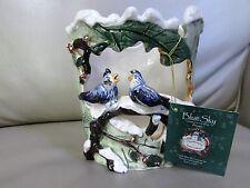 Heather Goldminc 2000 Blue Sky Christmas/winter Candle Holder Blue Birds-Nwt