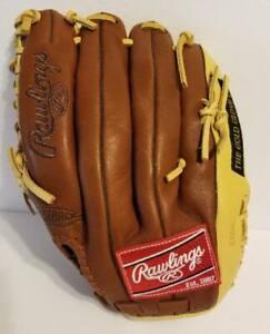 "Rawlings Gold Glove Co. Baseball Glove Dual Core Trap Eze 11 1/2"" Deer Tanned Co"