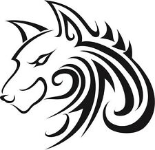 TRIBAL WOLF ANIMAL CAR DECAL STICKER