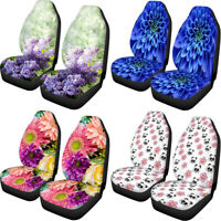 Womens Flroal Car Seat Covers Soft Front Seat Protector 2 PCS  Universal Fit