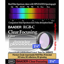 "Baader Clear Glass Filter for Focusing or Dust Protection - 1.25"" # FC-1 2458415"