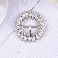 1PC rhinestone crystal shoe clips women bridal wedding shoes buckle decor  X