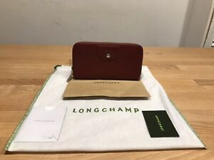 Longchamp Ladies Burgundy Zip&Clip Continental Purse Wallet! New! Only
