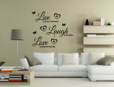 Live every moment Laugh everyday Wall Quotes Wall Stickers Wall Art UK 32kb