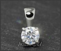 Diamant 585 Gold Anhänger, Brillant 0,26ct; River D, Si1; mit DGI Zertifikat NEU