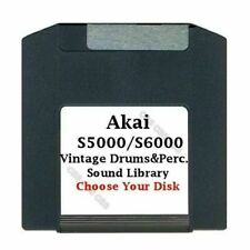 Akai S5000 / S6000 100MB Zip Disk Vintage Drums & Perc. Library Choose Your Disk