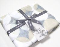 West Elm Multi Colors Organic Cotton Shape Shifting Full Queen Duvet Cover New