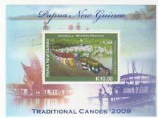 Papua New Guinea 2009 - Canoes Stamp Souvenir sheet MNH