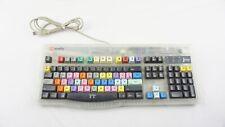 Macally iKey4 Final Cut Pro Video Editing Keyboard USB Tested & Working
