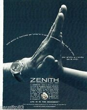 PUBLICITE ADVERTISING 116  1996  la montre Zenith  le chronomaster